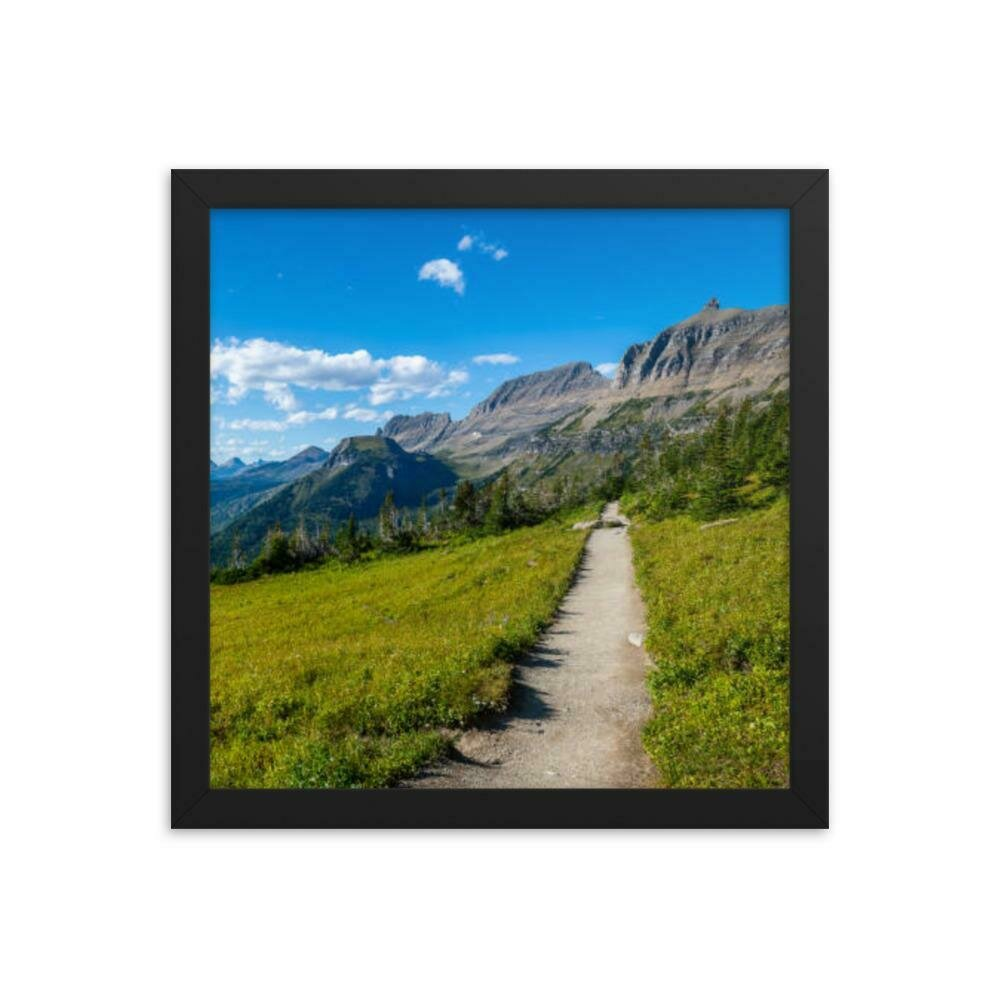 Mountain View Framed poster