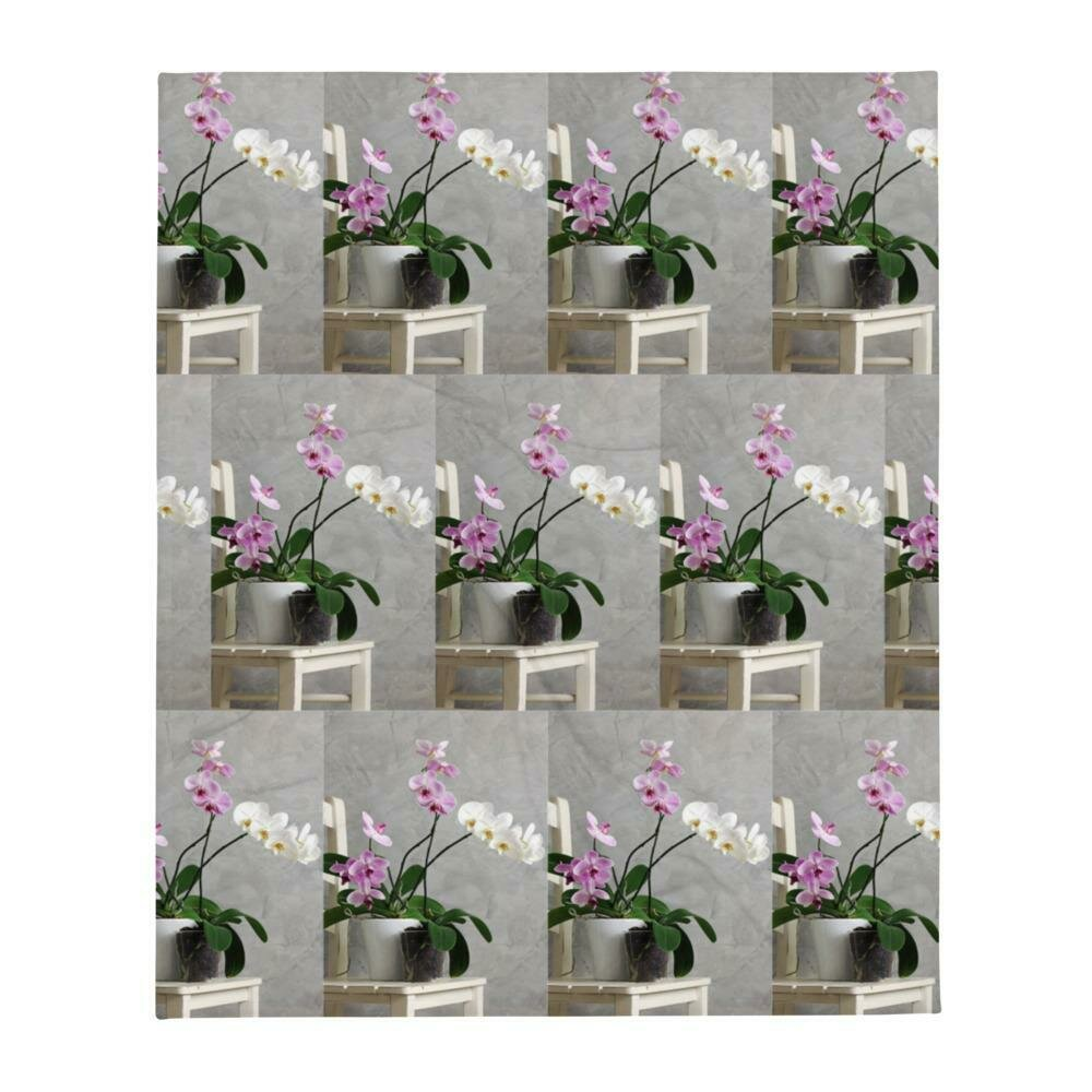 Orchid Collection Throw Blanket