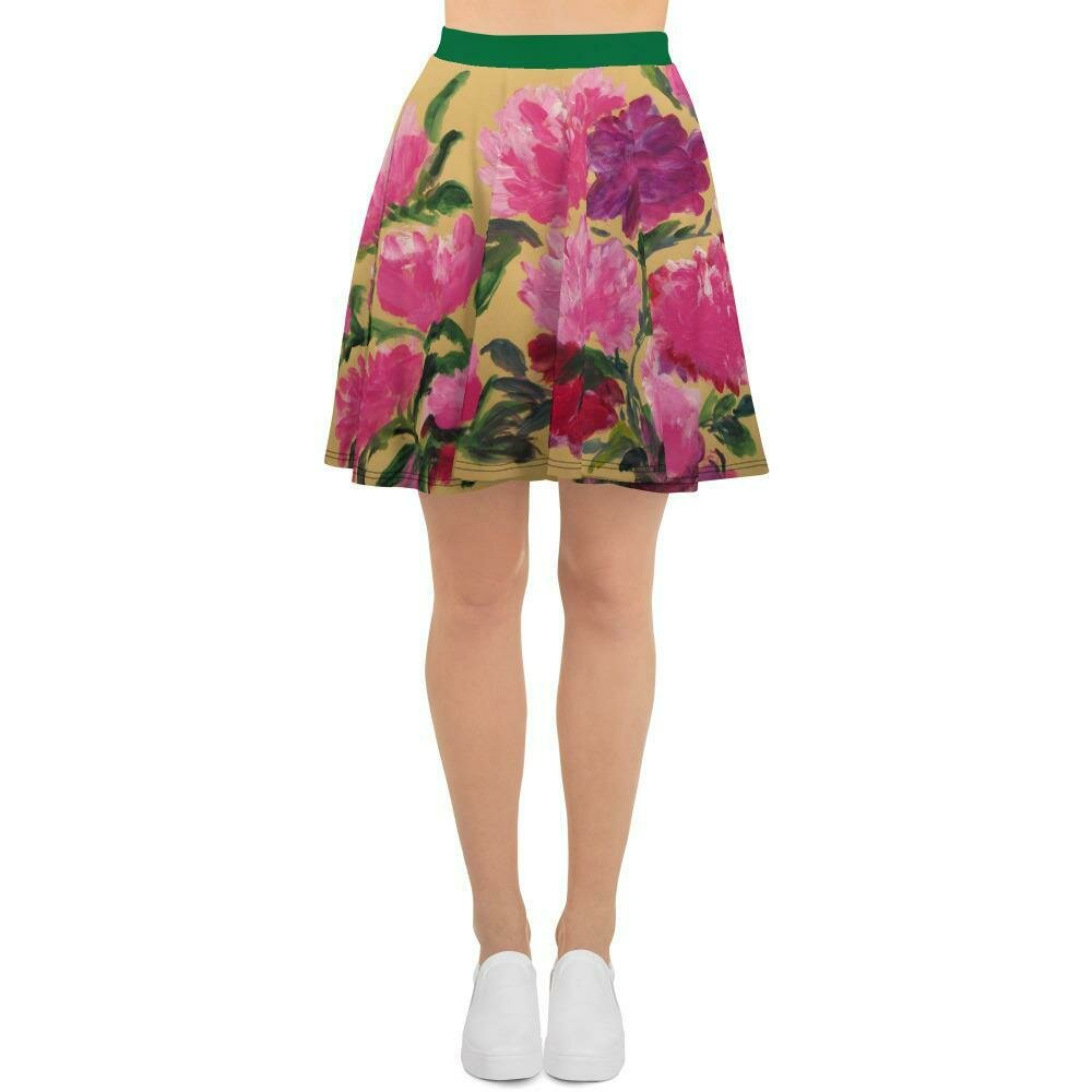 Palace in New York dress series:  Flouncy skater skirt with peonies