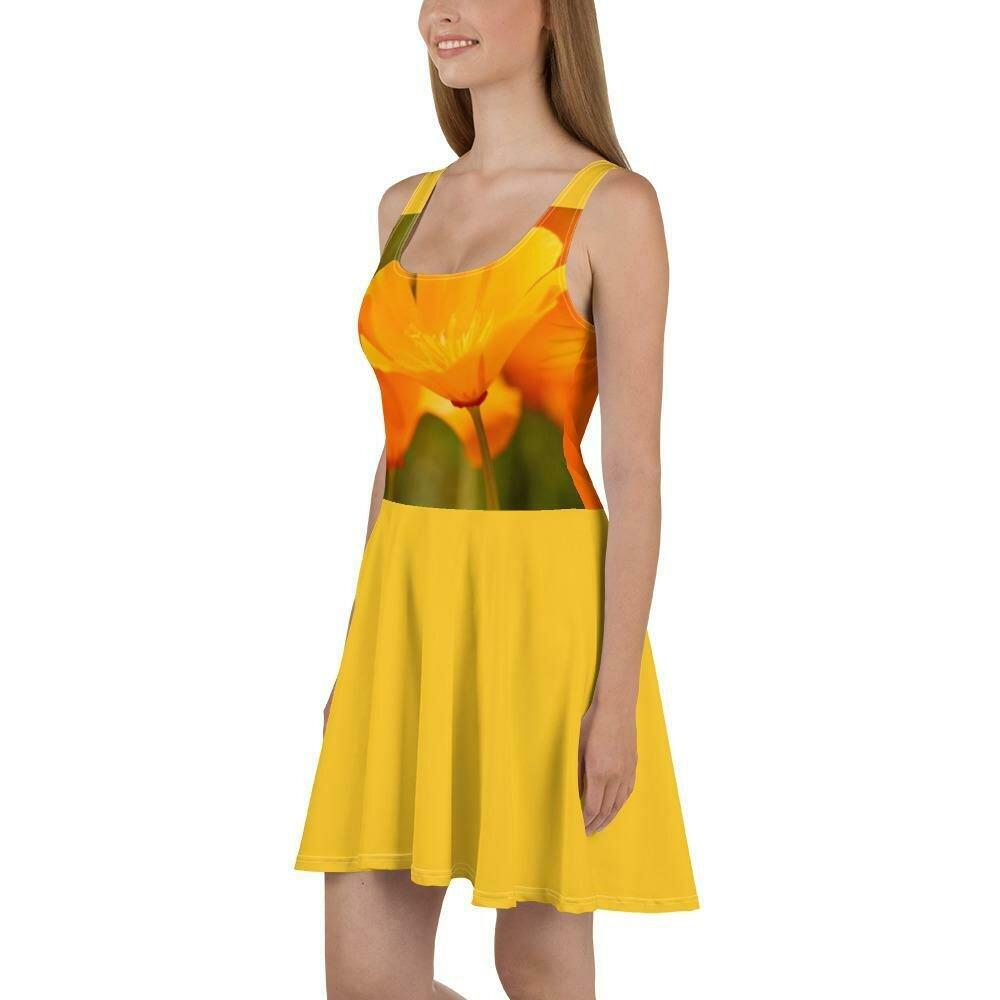 Perky Yellow Poppies Dress