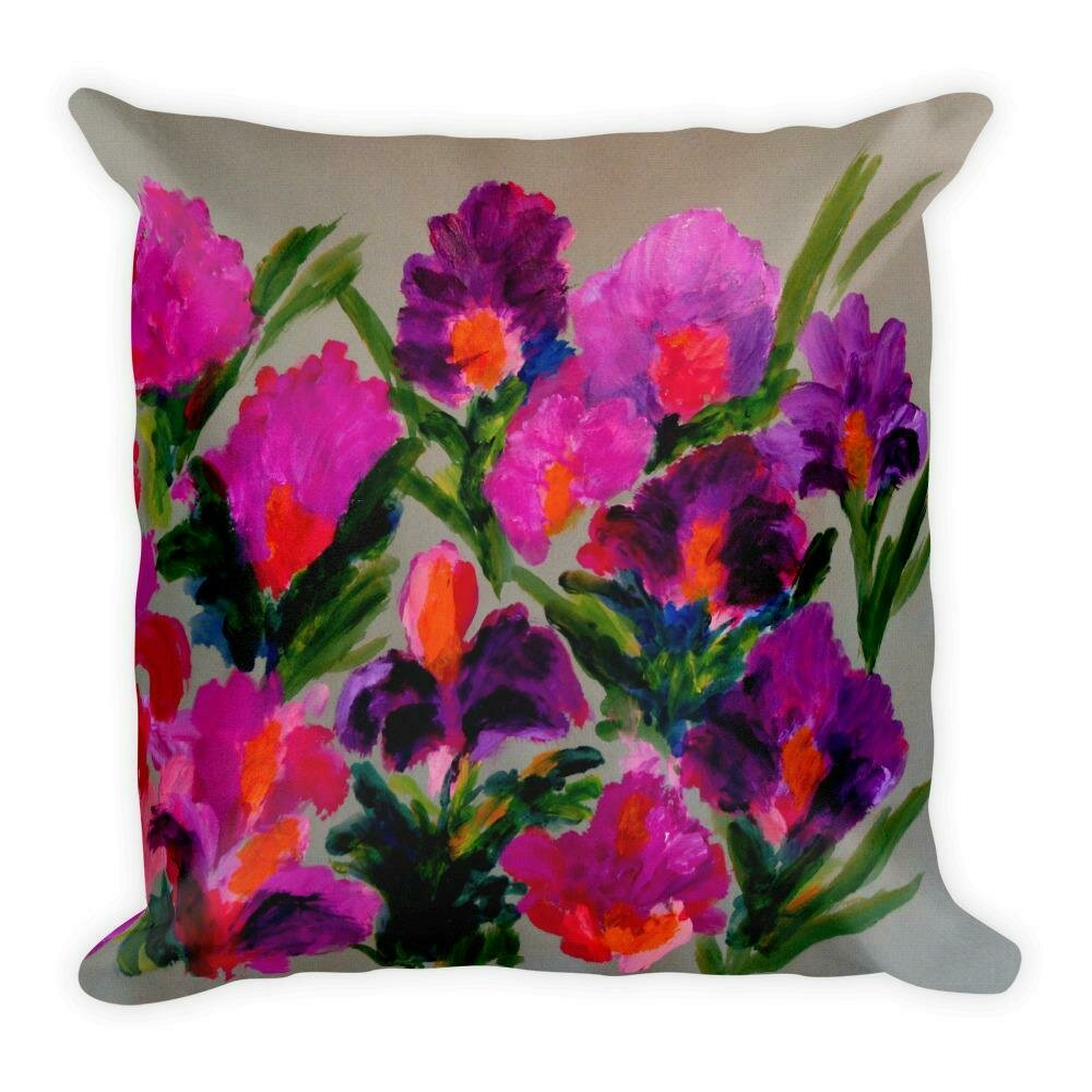 Premium Pillow Plush Iris Spring Pillow