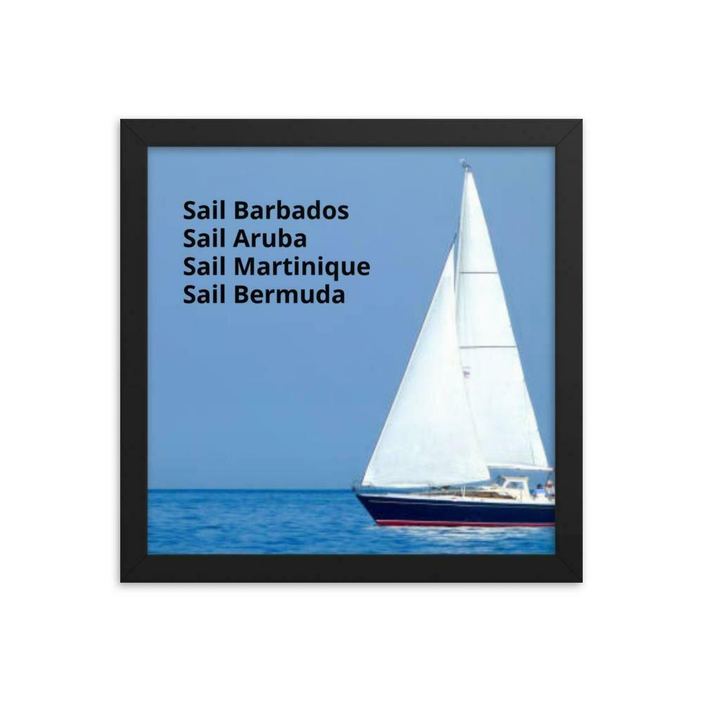 Sail Barbados Framed poster