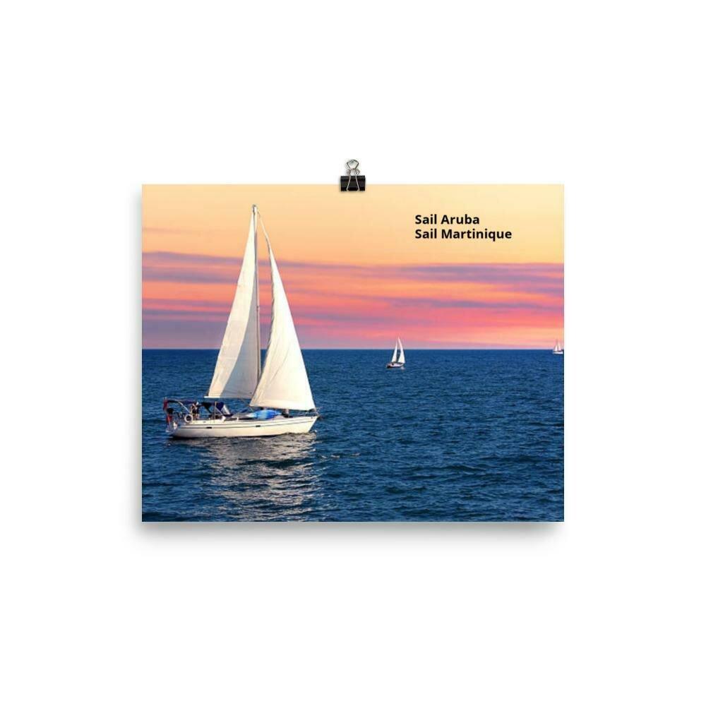 Sail Martinique Poster