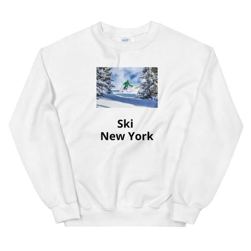 Ski New York Blue Unisex Sweatshirt