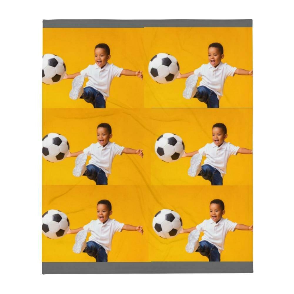 Soccer Boys Throw Blanket