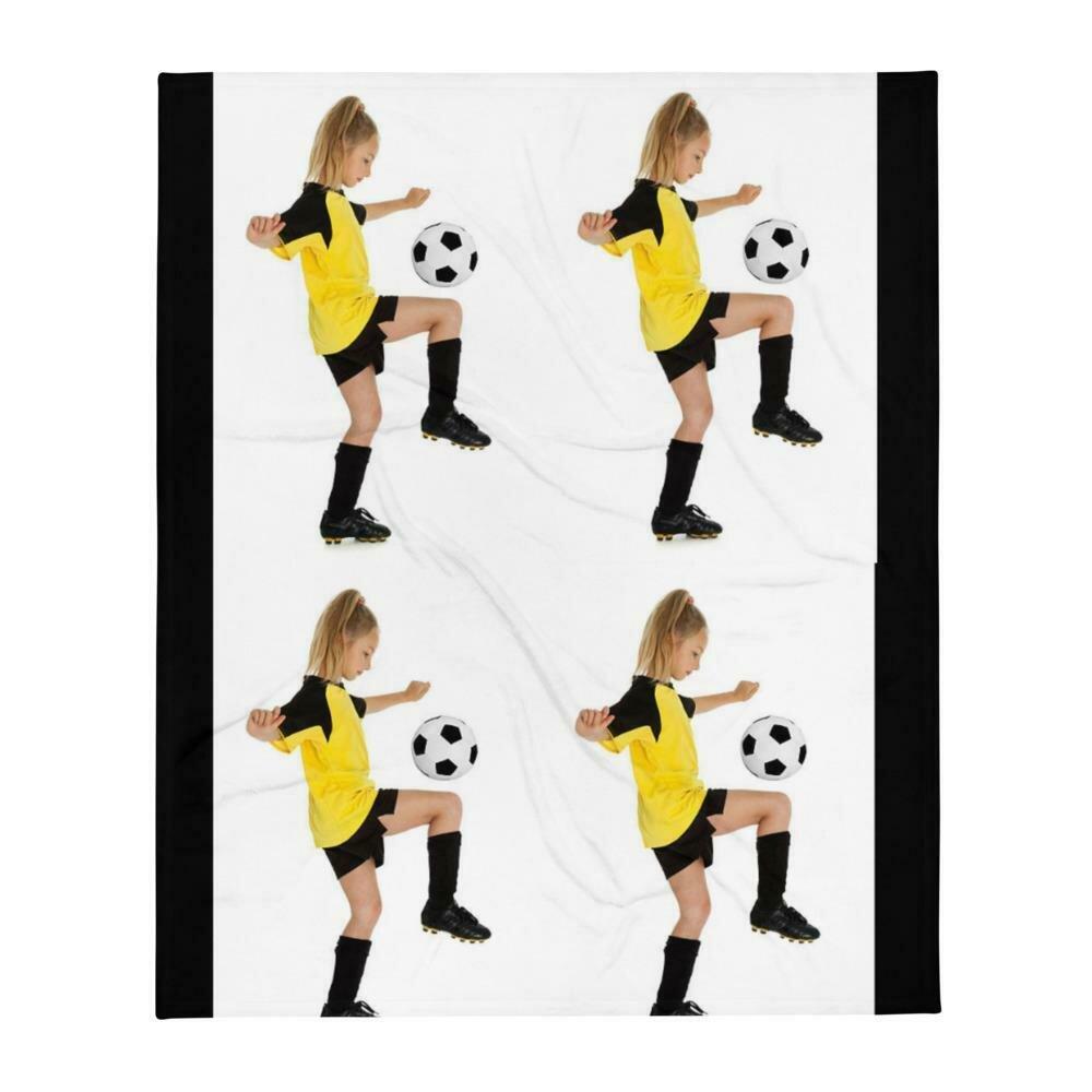 Soccer Girls Throw Blanket