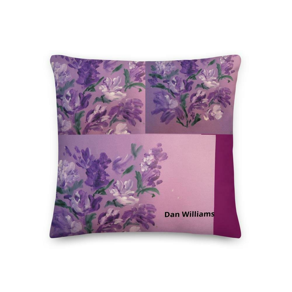 Violets and Gardenias II Premium Pillow