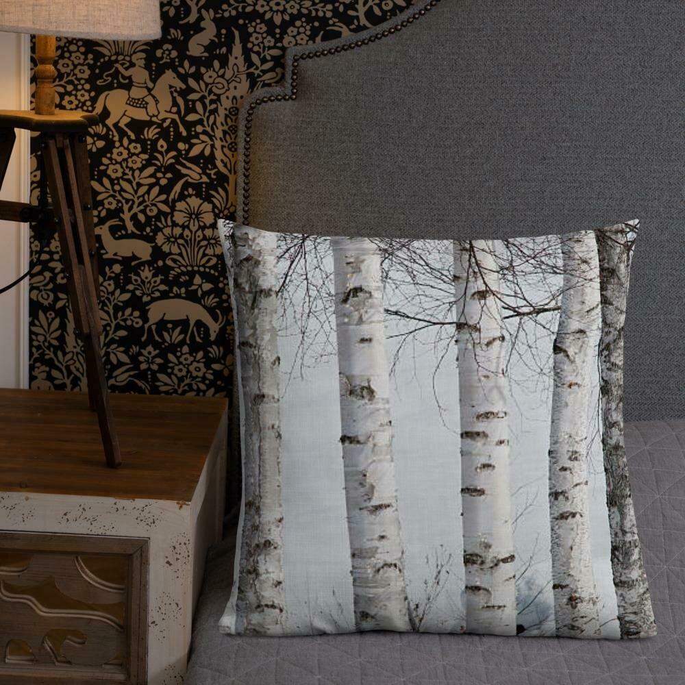 White Birch Tree Pillow