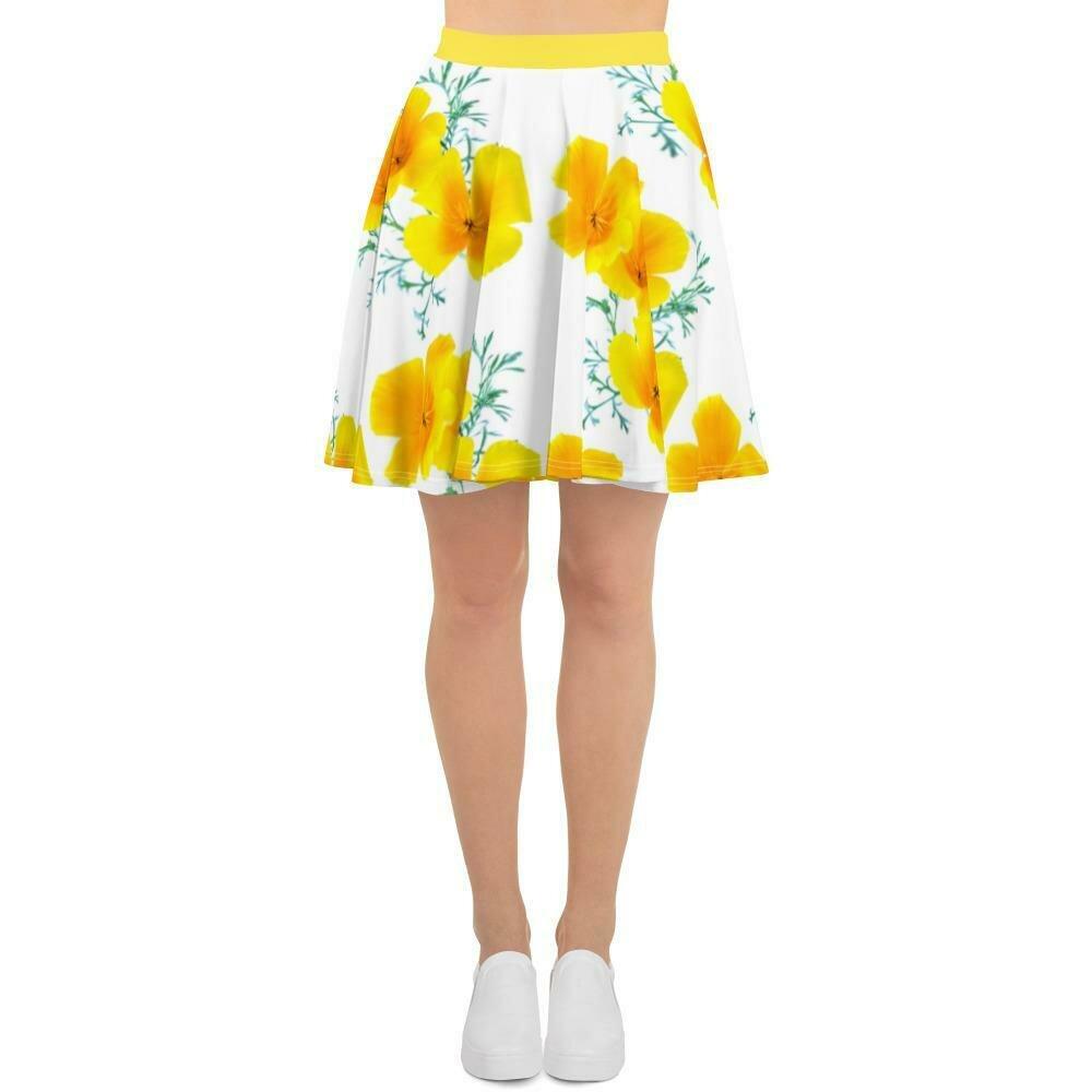 Yellow Poppies Skirt