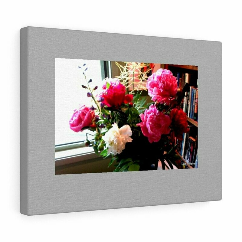 Peonies Vase Canvas Gallery Wraps