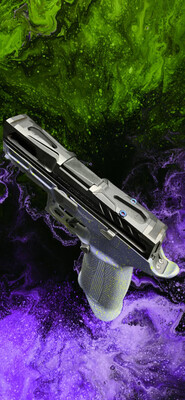 SOLD A.C.E 320 Pro Carry Module Crushed Orchid w/ Venom Green Splatter