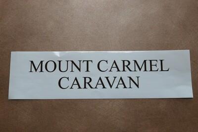 Bumper sticker - White MC Caravan