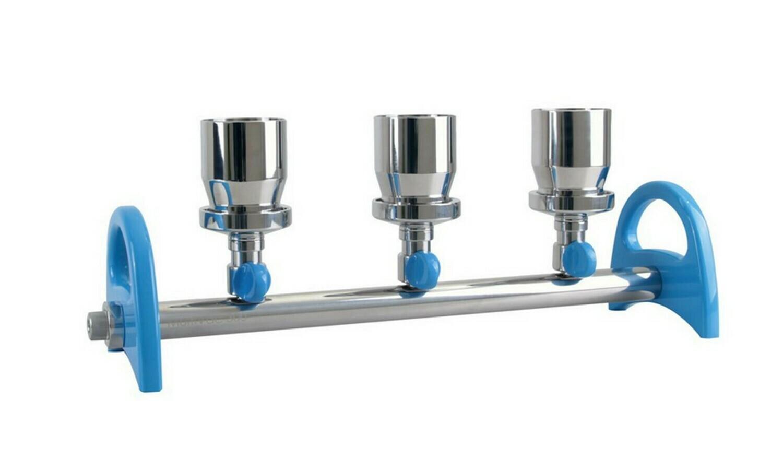Stainless Steel Spin-Lock Design Multi-Branch Manifold valve MultiVac 301-MB / MultiVac 601-MB