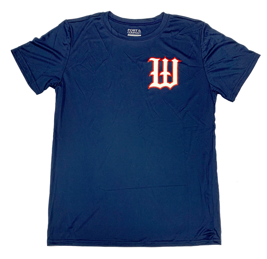 "Navy Performance Practice ""W"" Tee [LIMITED SUPPLY]"