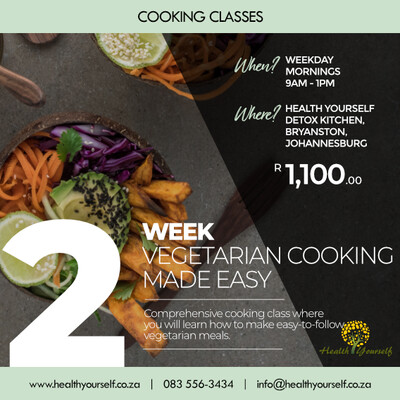 2-Week Vegetarian Cooking Class Made Easy