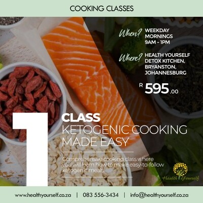 1-Class Ketogenic Cooking Class