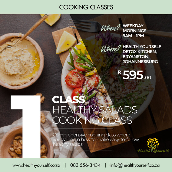 1-Class Healthy Lunch Box and Salad Cooking Class