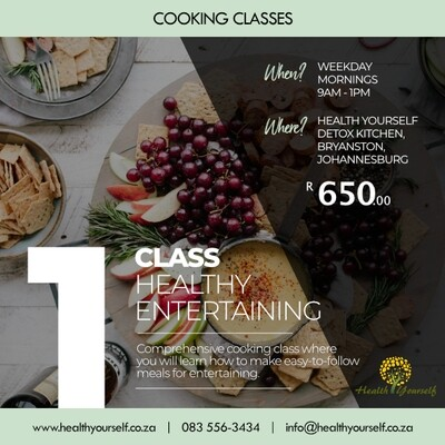 1-Class Healthy Entertaining Cooking Class
