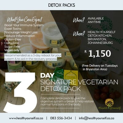 #Trending | 3-Day Signature Vegetarian Detox Pack