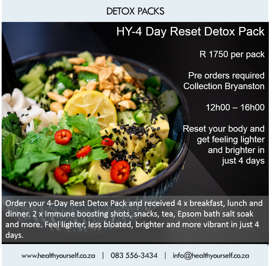 4-Day Reset Vegan Detox Packs