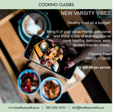 New Varsity Vibes Cooking Course