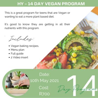 14-Day Vegan Program 10 May - 24 May