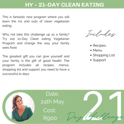 21-Day Clean Eating Program 24 May - 14 June