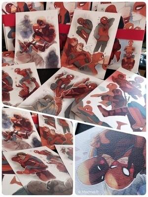 Fanart A5 Prints - Spideypool / Detroit Become Human / Spiderverse