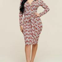 Beautiful Multipattern Midi Dress