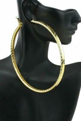 Gold Bangle Earring
