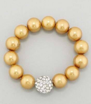 Gold and Rhinestone Bracelet