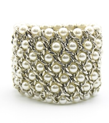 White Pearl and Silver Bracelets