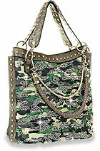 Large Camp Bling Multi Strapped Purse
