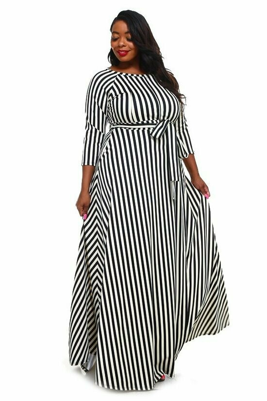 Striped Maxi PONTY ROMA Dress