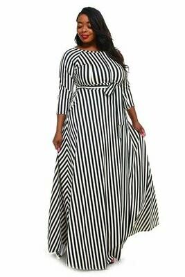 Striped Maxi PONTY ROMA Dress
