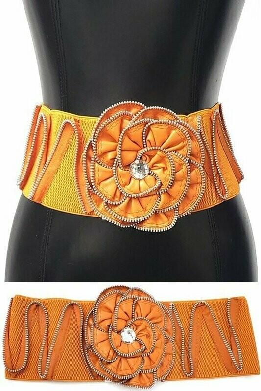 Orange Flower Belt
