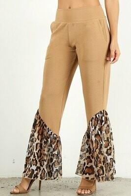 Animal Print Bell Bottom Pants
