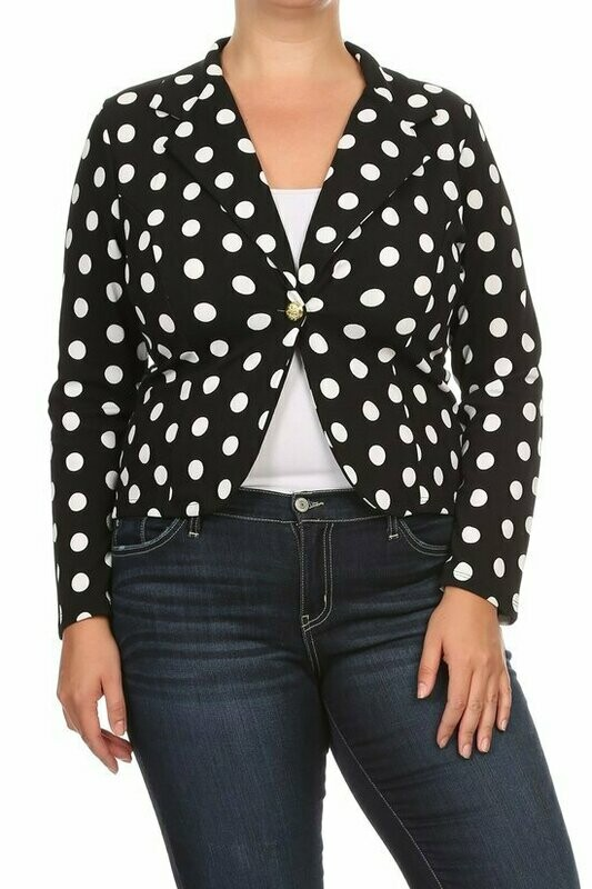 Black and White Polka Dot Jacket