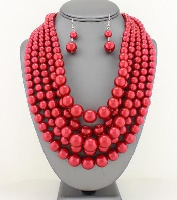 Elegant Layered Pearl Set