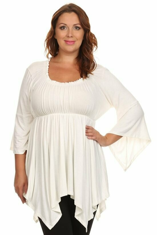 Lovely Flared Sleeve and Bottom Blouse