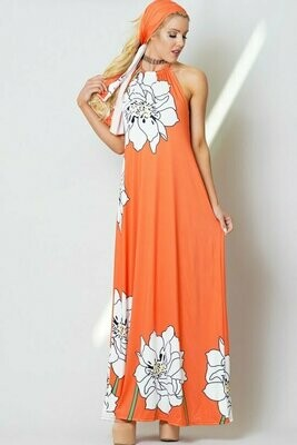 Off Shoulder, sleeveless,all over solid print, cut back