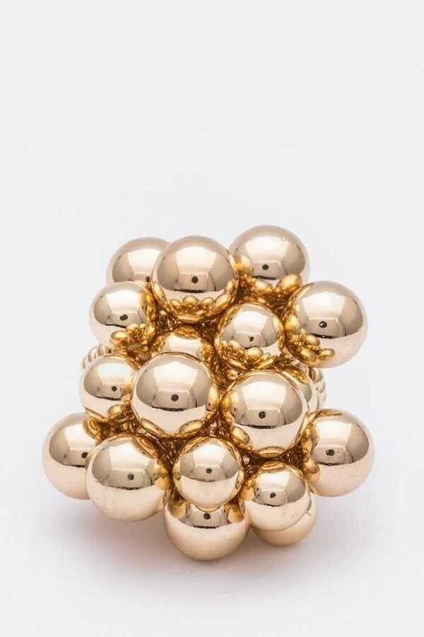 Unique Fringe Beads Iconic Stretch Ring