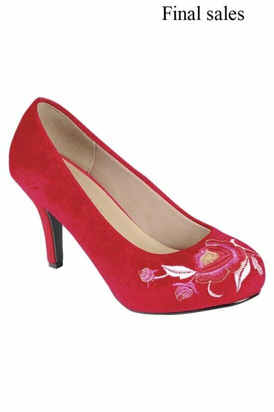 Gorgeous Embroidered Low Heel Shoe