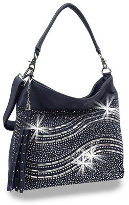 Rhinestone Curve Design Handbag