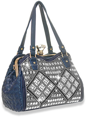 A-Frame Rhinestone Design Handbag
