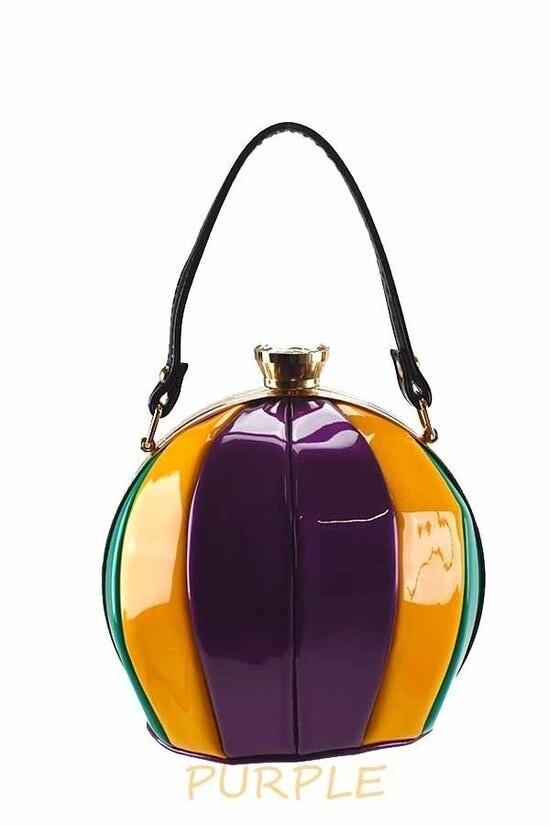 Multi Color Ball Shape Top Handle Handbag Chic Party