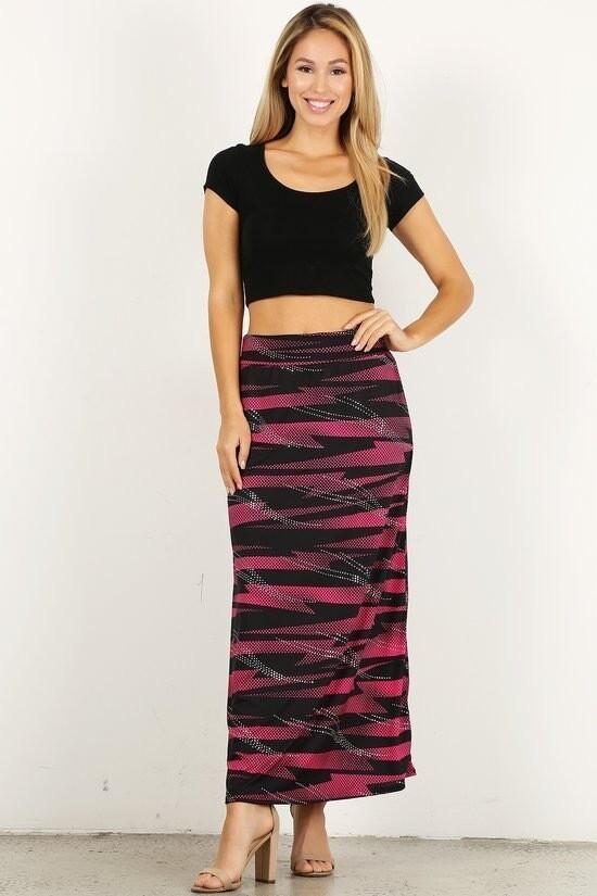 High waisted blinged maxi skirt