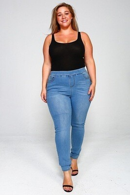 Solid, Full Length, High Waist, Skinny Fit, Standard 5 Pockets Jeans