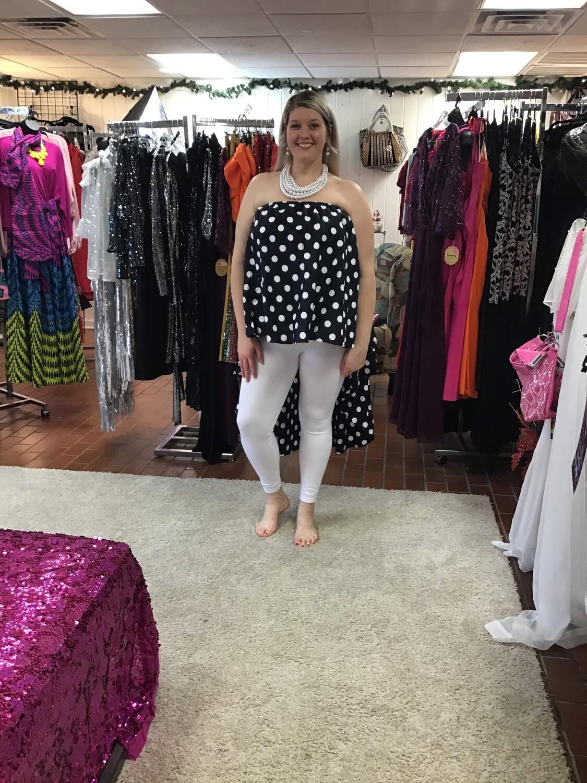 Polka Dot Hi Lo Blouse/ Skirt
