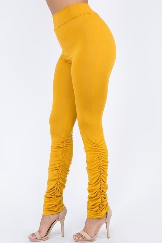 Gold Shaggy Leggings